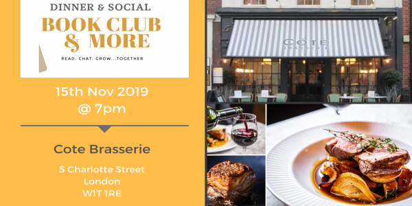 Bookclub and More Dinner and Social 15th Nov 2019