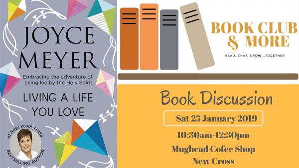 Bookclub and More reads Living the Life you Love' by Joyce Meyer